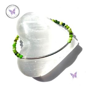 Chrysoprase Beaded Tube Bracelet